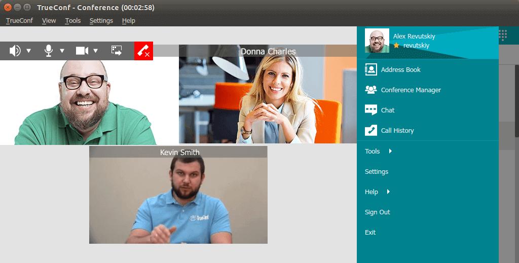 Videokonferenční software TrueConf pro Linux